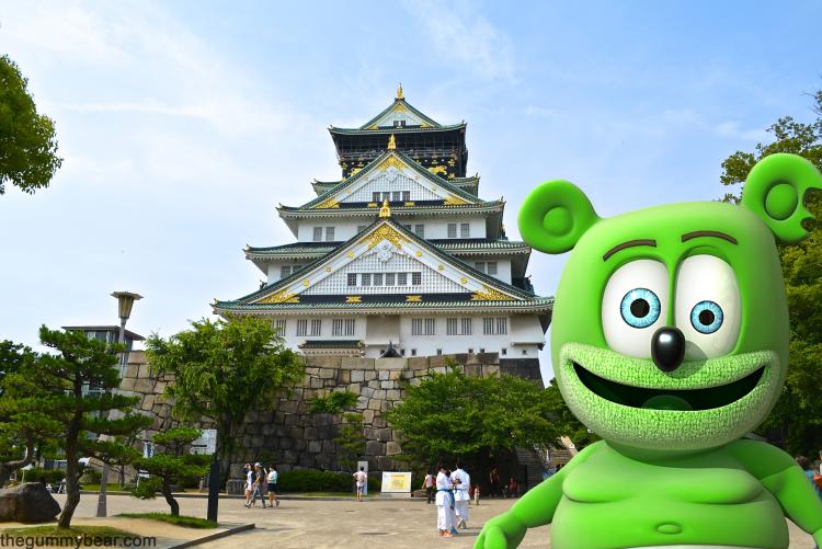 osaka castle japan japanese travel gummy bear gummibar im a gummy bear song gummybear international