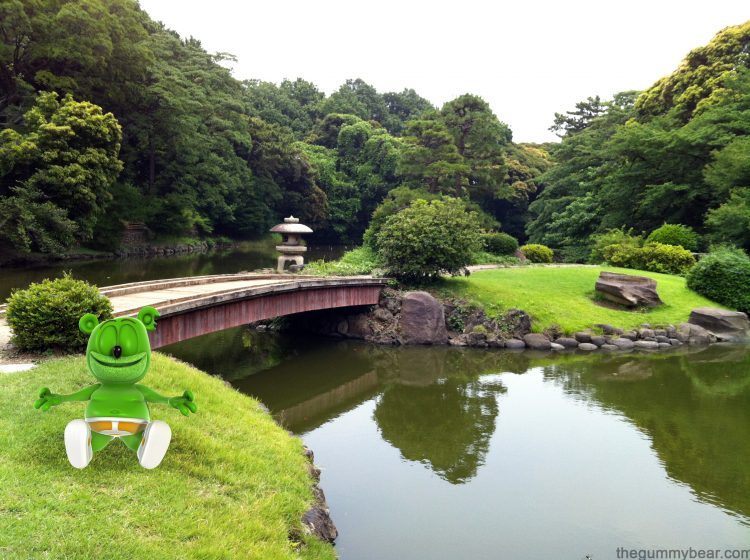 japan shinjuku national garden travel blog gummy bear song im a gummybear gummibar