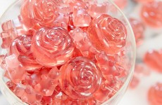 rose champagne pink gummy bears gummy bear candy gummibar song gummybear recipe homemade DIY candy candies