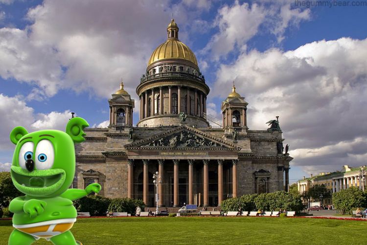 st. petersburg russia st. isaac's isaacs cathedral tourism travel blog international i am a gummy bear song gummibar the gummy bear show youtube youtuber animated cartoon web series the gummy bear song