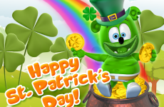 st. patrick's day, saint patrick's day, st patricks day, saint patricks day, luck o of the irish, gummy bear im a gummybear i am a gummy bear song gummibar green cute adorable animated cartoon character