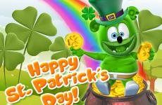 st. patrick's day, saint patrick's day, st patricks day, saint patricks day, luck o of the irish, gummy bear im a gummybear i am a gummy bear song gummibar green cute adorable animated cartoon character