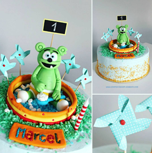 kids birthday party cake gummy bear gummybear song gummibar party ideas childrens cartoon character