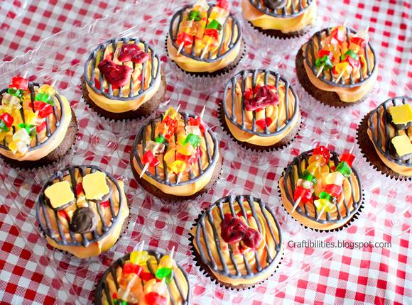 gummy-bear-grill-cupcakes