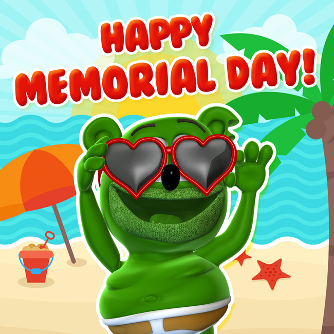 happy memorial day weekend mdw 2017 gummy bear gummibar gummybear international the i am a gummybear song