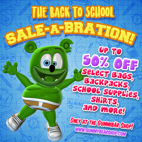 back-to-school back to school shopping supplies kids childrens backpacks toys shirts hats gummy bear gummybear song gummibär