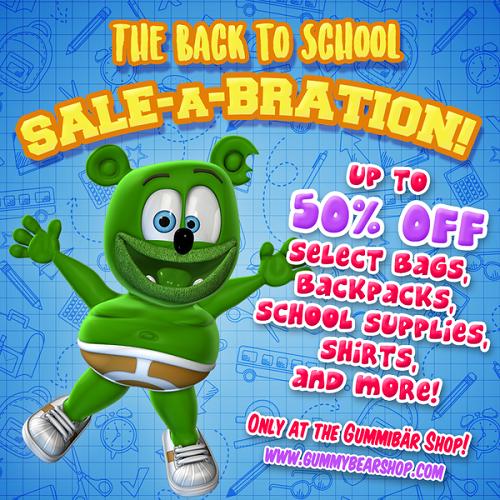 back-to-school back to school shopping supplies kids childrens backpacks toys shirts hats gummy bear gummybear song gummibär
