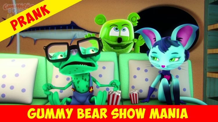 gummibar gummy bear show mania prank gummibär pranks youtube youtuber animated cartoon series animation for kids childrens music playlist full episodes