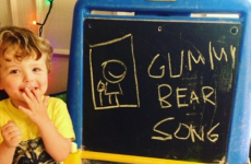 gummy bear song i am a gummybear im a gummy bear chalkboart art spell spelling learn learning fan art animated animation cartoon kids show web series cartoons youtube youtuber