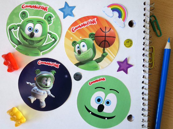 gummy bear show mania sticker fun prize pack