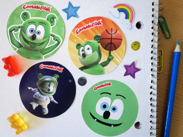 gummy bear show mania sticker fun prize pack