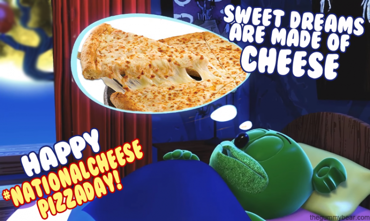 national cheese pizza day gummybear gummibar i am a gummy bear song