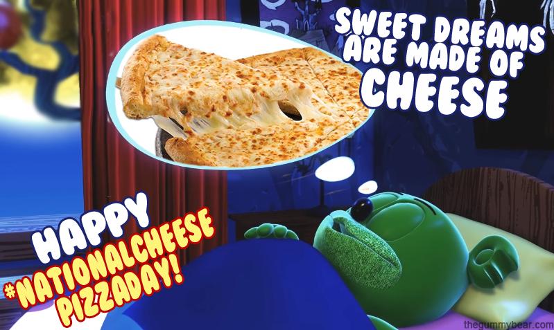 national cheese pizza day gummybear gummibar i am a gummy bear song
