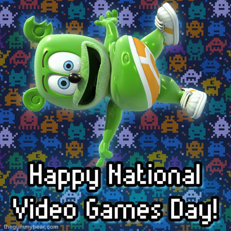 video games national video game day gummibar gummy bear i am a gummybear gummibar international animated animation cartoon series gaming gamer games ps4 xbox nintendo