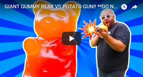 giant gummy bear vs versus potato gun youtube youtuber the i am a gummy bear song gummibar gummybear international ima gummi bear