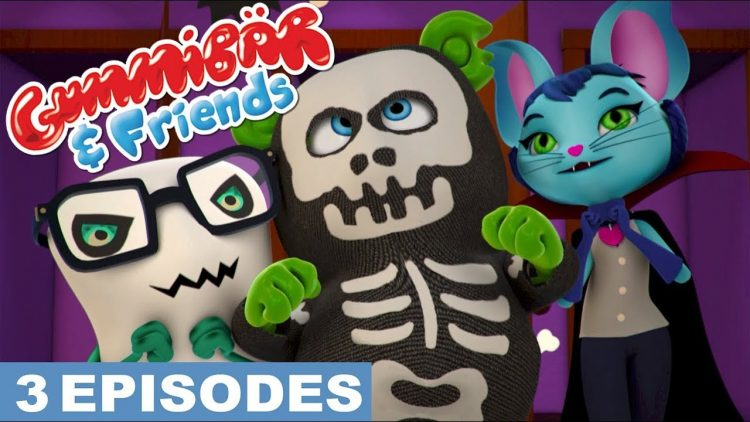 friday the 13th scary spooky halloween kids cartoon show web series free full episodes gummibar and friends the gummy bear show