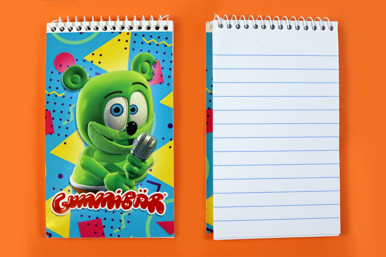 notepad small gummibar note pad writing stationery note book school supplies school book i am a gummy bear song the gummybear international youtube youtuber animated web series kids cartoon character
