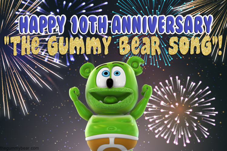 the gummy bear song 10th anniversary i am a gummy bear gummibar youtube youtuber animated kids childrens cartoon music web series show