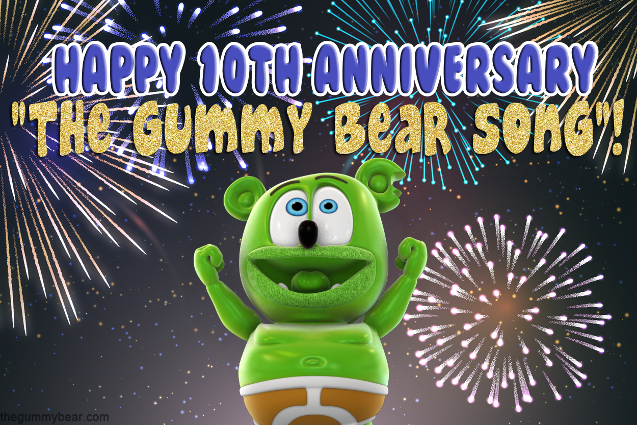 the gummy bear song 10th anniversary i am a gummy bear gummibar youtube youtuber animated kids childrens cartoon music web series show