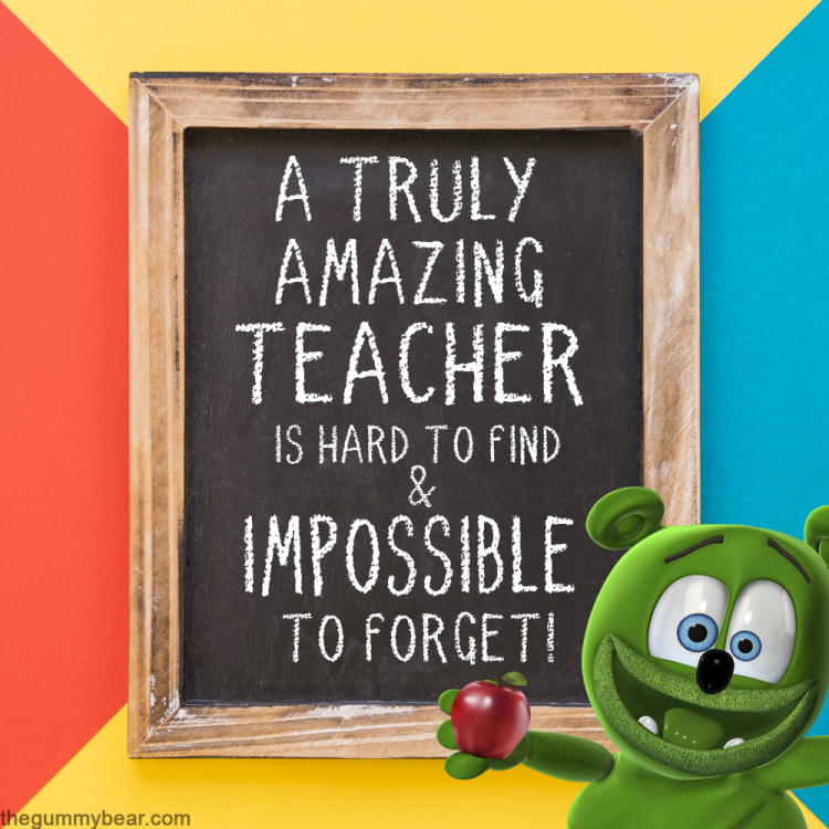 world teachers' day the gummy bear song i am a gummybear international gummibär youtube youtuber kids cartoon show animated animation