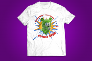 new gummibar kids t-shirts 2017 the gummy bear song i am a gummybear childrens clothing merchandise youtube youtuber animated animation kids' web series full episodes