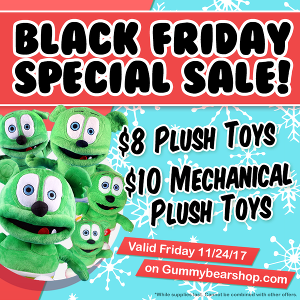 black friday 2017 gummy bear plush toys gummibar the gummy bear song i am a gummy bear ima gummy bear