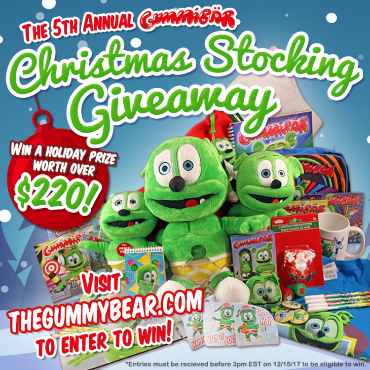 christmas stocking giveaway i am a gummy bear the gummy bear song gummibar and friends the gummy bear show holiday gifts gift giving christmas enter to win giveaway free stuff