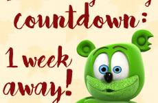thanksgiving 2017 one week away gummy bear song gummibar and friends countdown i am a gummy bear im a gummy bear youtube youtuber holiday holidays