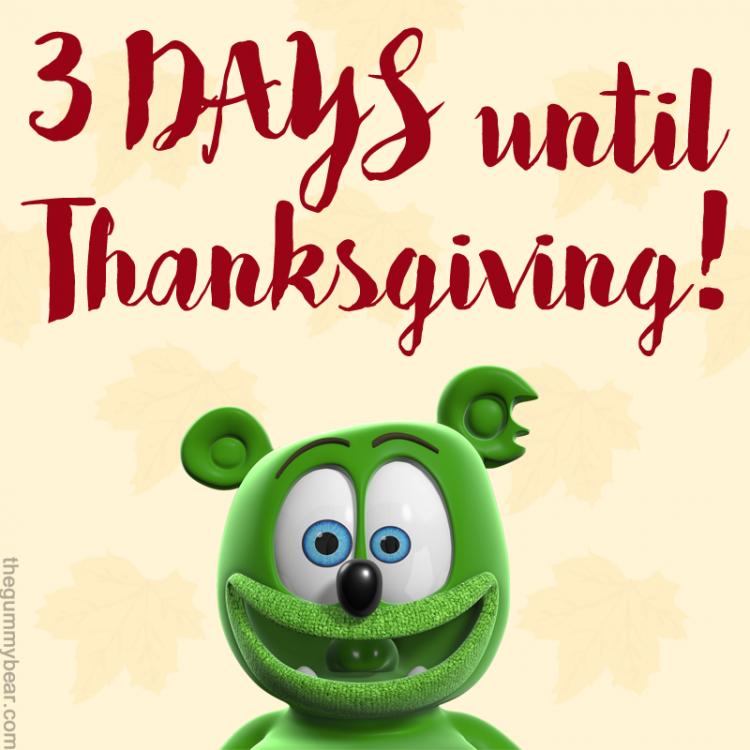 thanksgiving 2017 countdown with gummibar the gummy bear song i am a gummy bear