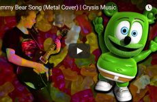 metal gummy bear song the gummybear gummibar and friends gummybear international youtube youtuber music hard rock guitar cover kids childrens music