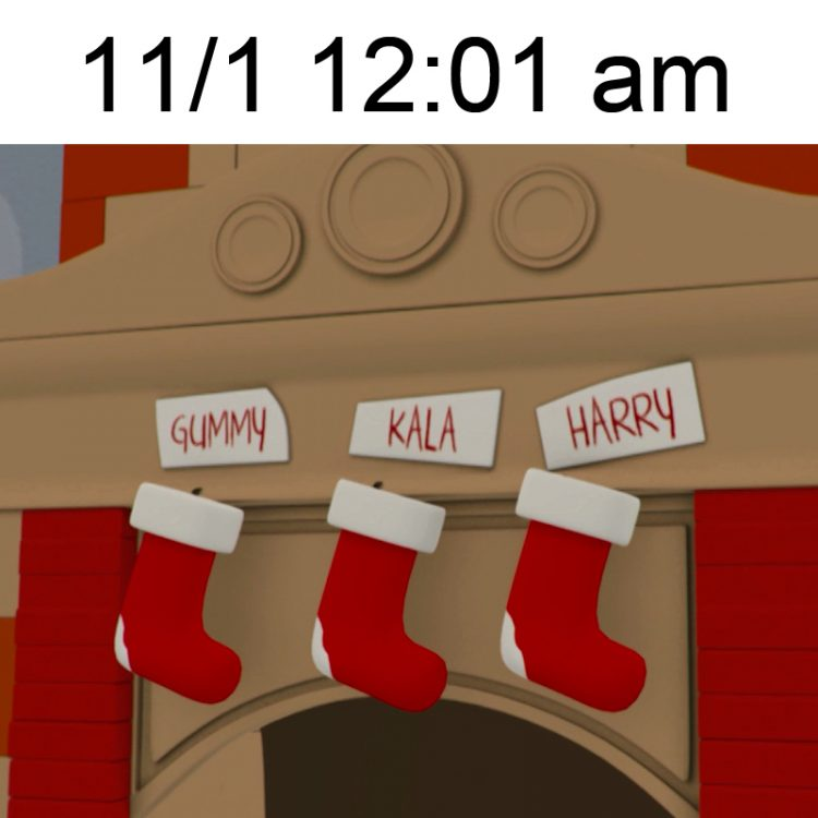 christmas ready meme stockings fireplace chimney santa claus xmas november 1st 12:01 am decorations gummy bear show i am a gummybear international yummy gummy search for santa