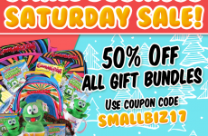 small business saturday 2017 gummibär shop gift bundles 50% off gummy bear song i am a gummybear international animated animations black friday holiday weekend shopping sales deals discounts christmas hanukkah kwanzaa