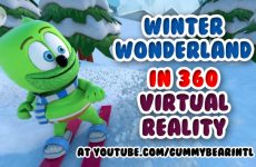360 virtual reality video winter wonderland 30 minutes gummibar the gummy bear song i am a gummybear international kids childrens animated cartoon winter fun sports
