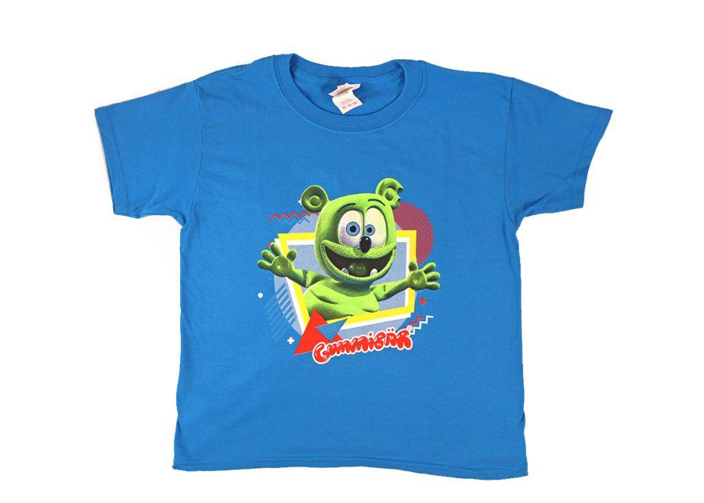 new gummibar t-shirt adults kids sizes apparel gildan softstyle childrens merchandise sapphire blue t-shirt