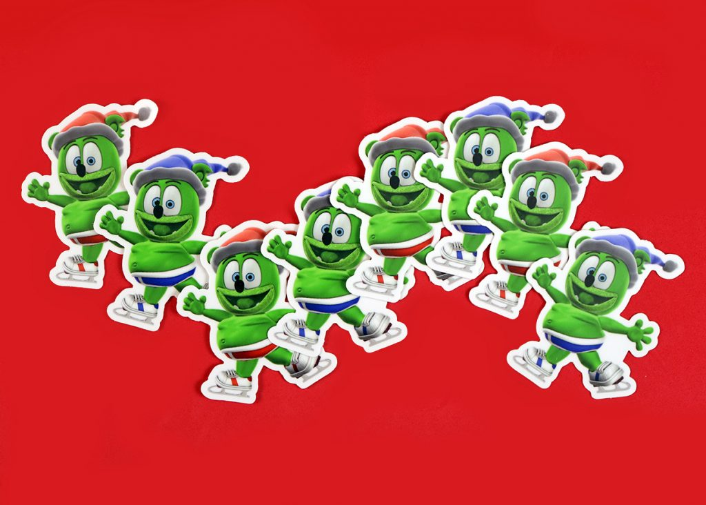 gummibar the gummy bear winter sticker set i am a gummybear international kids childrens stickers christmas happy holidays ice skating snow wintertime fun