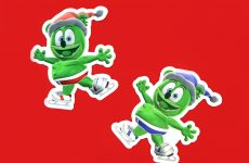 gummibar the gummy bear winter sticker skating i am a gummybear international fun festive snow ice skating gummy bear shop kids childrens cartoon show