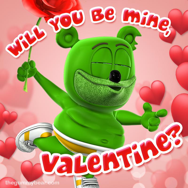 happy valentine's day gummibar the gummy bear banner