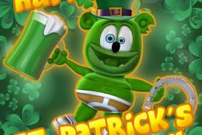happy saint patrick's day gummibar the gummy bear song i am a gummybear international ima gummibear youtube youtuber green cute lucky erin go bragh