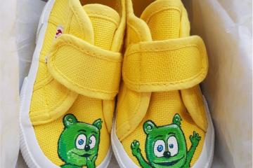handpainted sneakers gummibar sneakers
