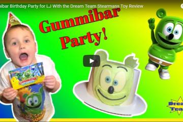 kids gummibär birthday party dream team stearman's toy review