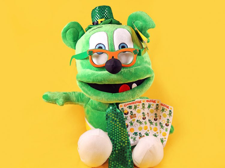 saint st. patrick's day giveaway gummibär the gummy bar song jumbo plush toy