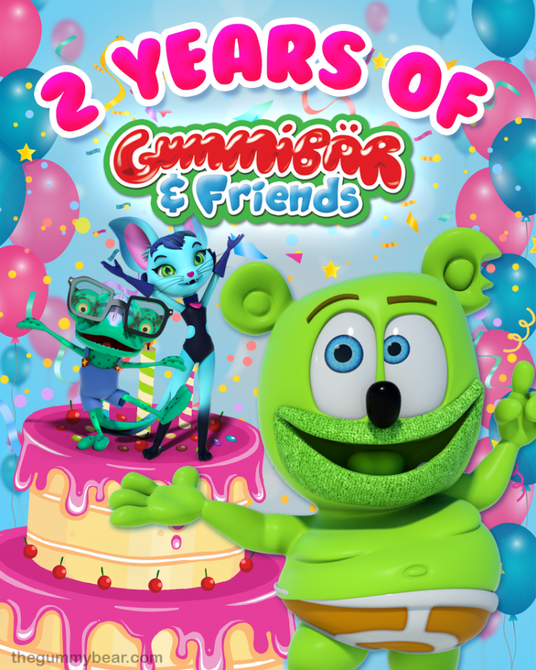 happy birthday 2nd birthday gummy bear show gummibar and friends kids cartoon show childrens animated web series youtube youtuber youtube red ima gummybear the gummy bear song