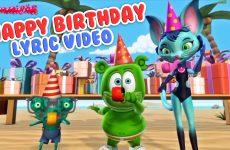 happy birthday lyric video gummy bear song kids birthday party music
