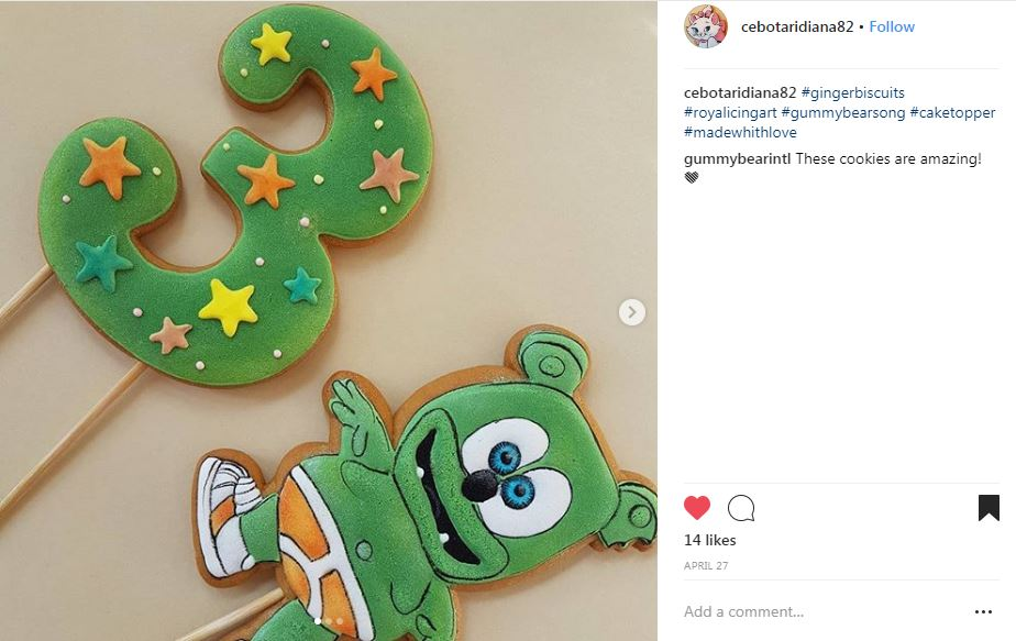 gummibar fan made cookies
