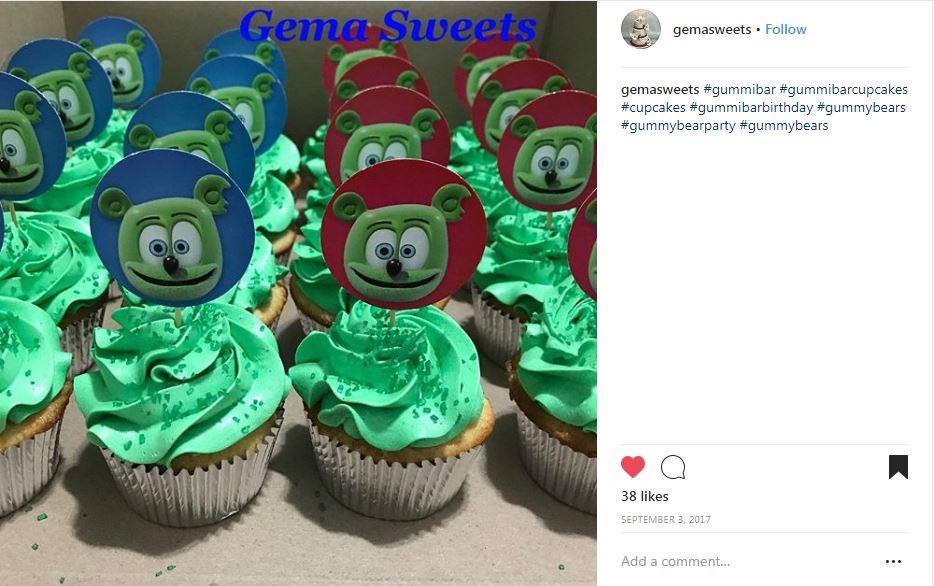 gummibar cupcake toppers