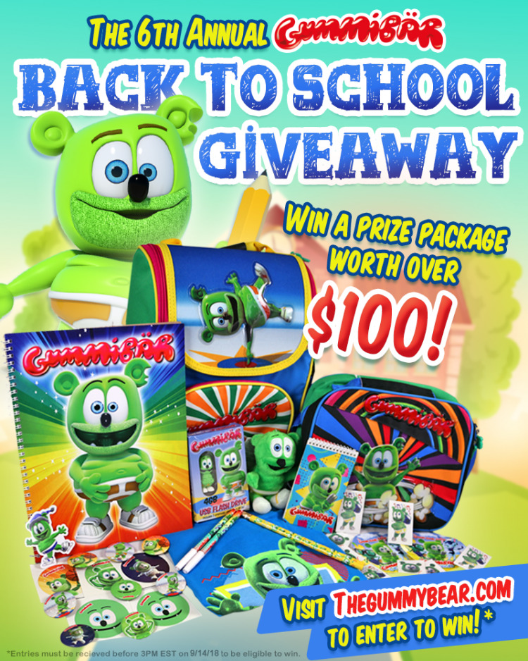 gummibar back to school giveaway 2018 sixth annual gummy bear giveaway gummy bear song i am a gummybear international