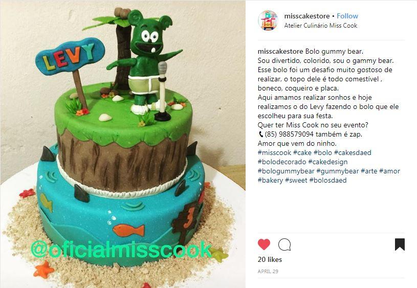 gummibar beach cake