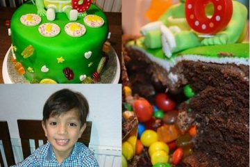 gummy bear birthday cake