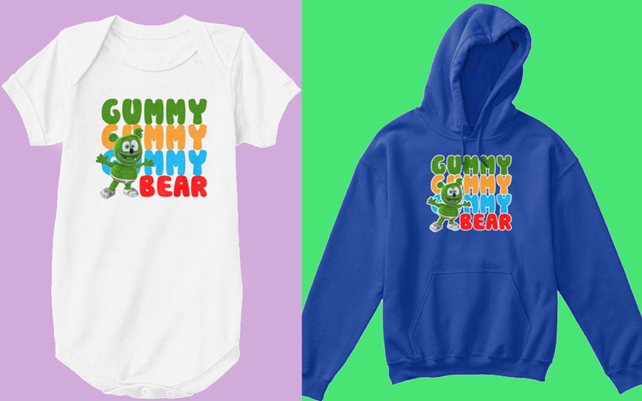 gummy bear onesies hoodies gummibar teespring the gummy bear song i am a gummy bear