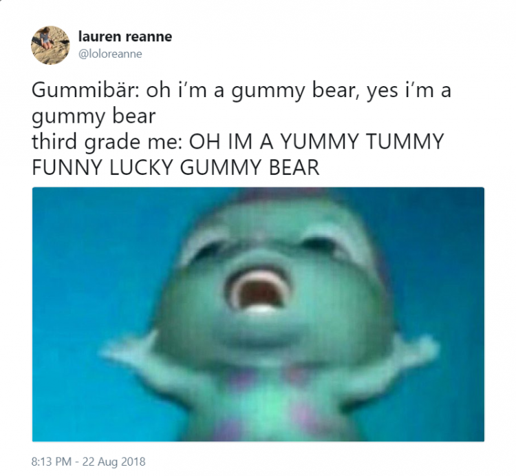 gummy bear song meme i am a gummy bear third grade me gummibar youtube youtuber song